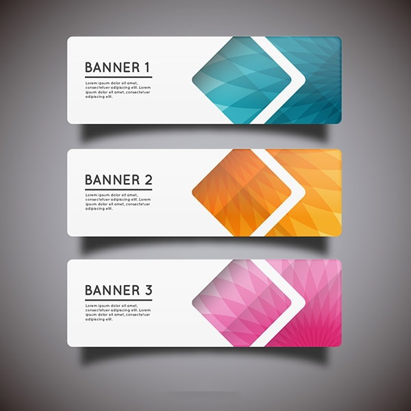 Geometric-banner-Free-Vector