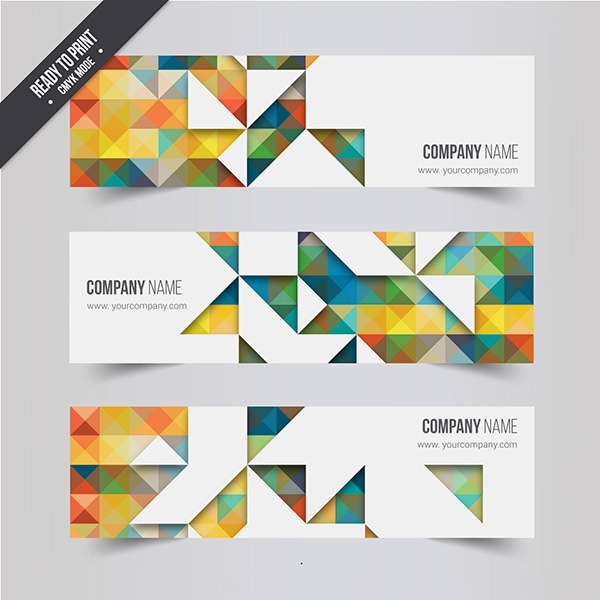 Geometric-banners-Free-Vector