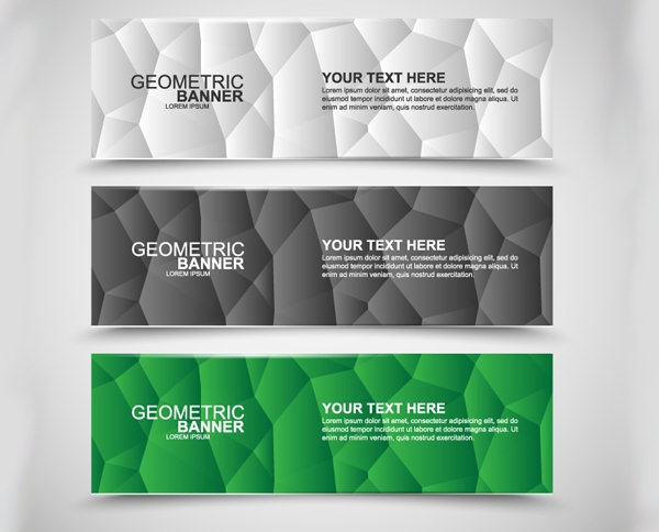 Geometric-polygonal-banners