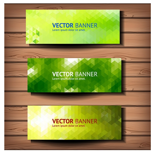Geometric-vector-banners