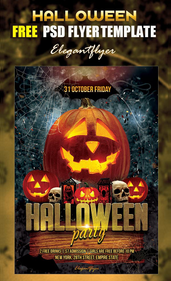 16 Free Psd Halloween Party Flyer Designs Jpg Vector Eps Ai
