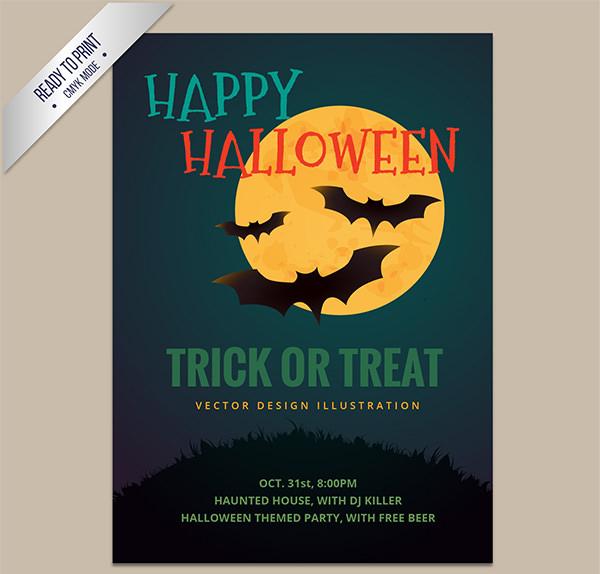 20+ Free Vector Halloween Party Poster Designs|FreeCreatives