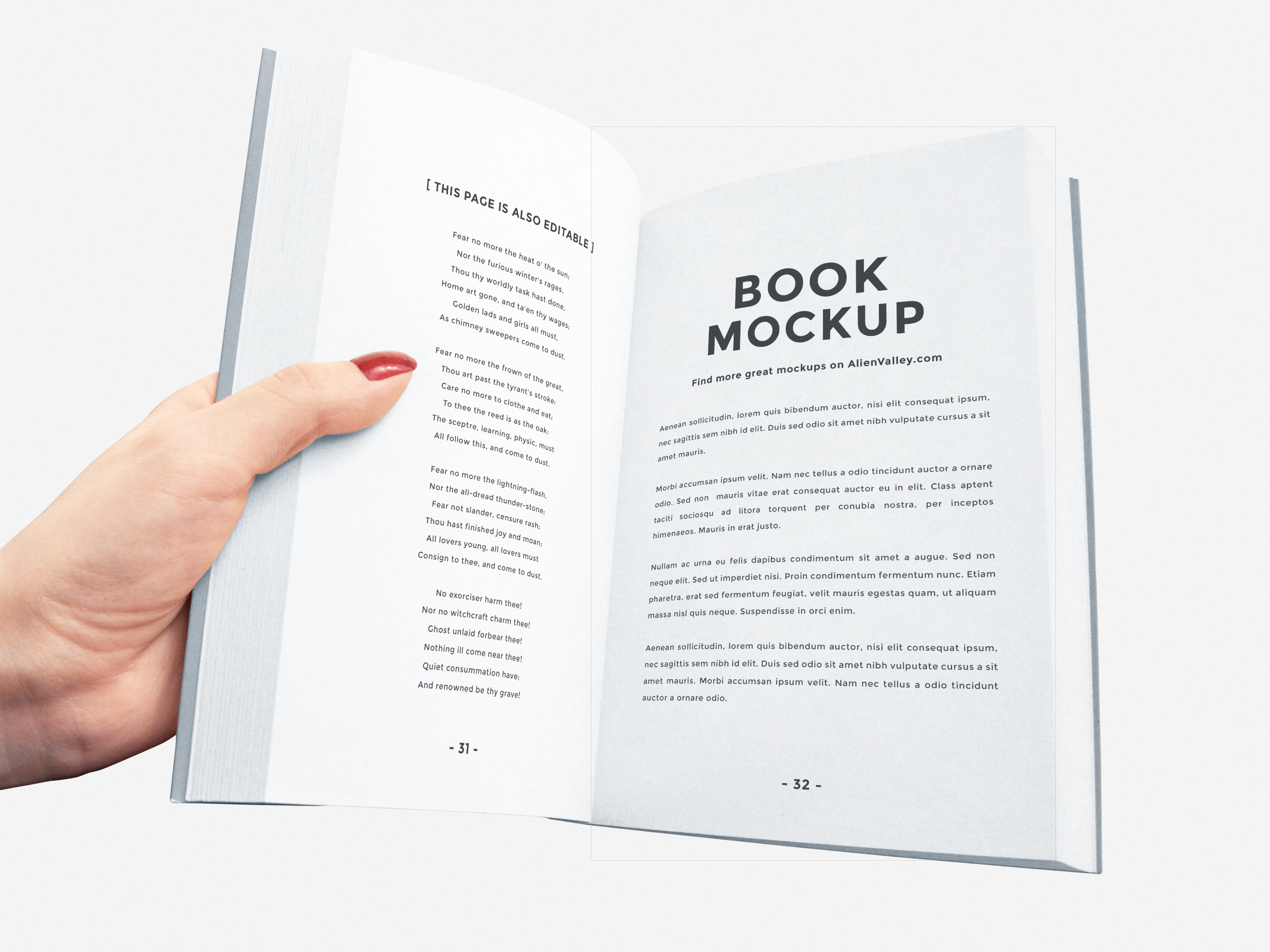 Open Book Mockup For Free