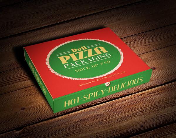 pizza box packaging mockup psd file