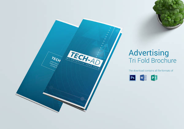 Printable Advertising Tri Fold Brochure