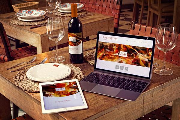 realistic wime bottle ipad air and macbookmockups set