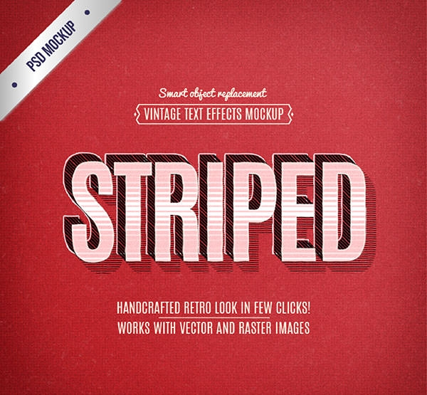 Retro-striped-text-effect