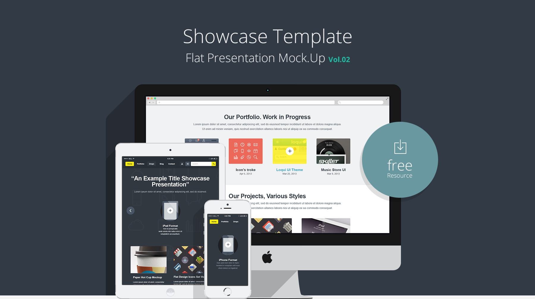 Showcase-Template-Flat-Presentation-Vol-2