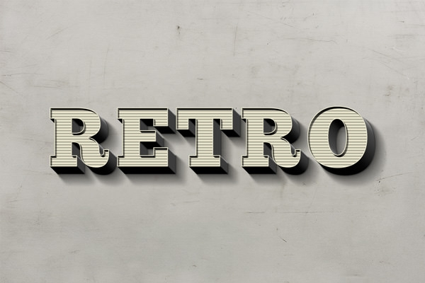 stunning retro text effect free psd