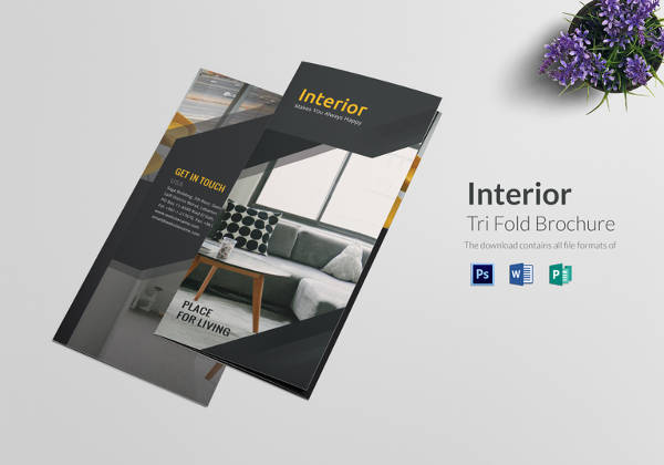 Tri Fold Interior Brochure Template in PSD