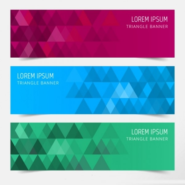 Triangle-banners-Free-Vector