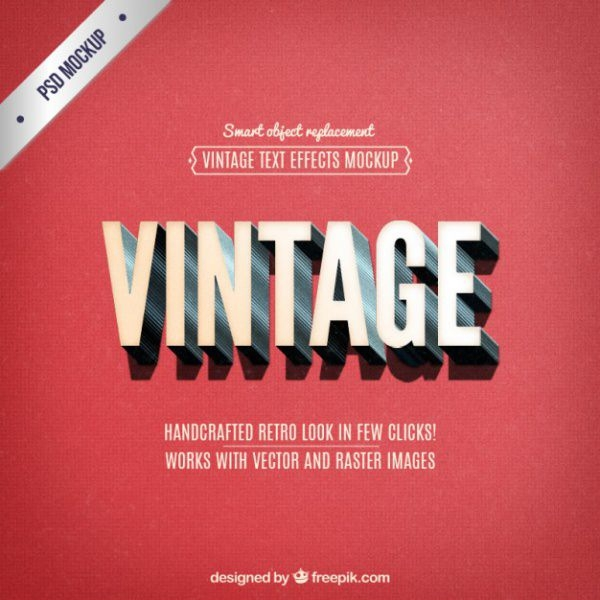 Vintage Lettering Text Effect