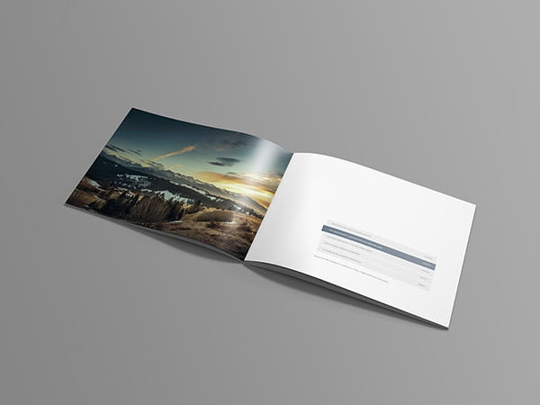 Free Psd A Landscape Brochure Mockups  Freecreatives