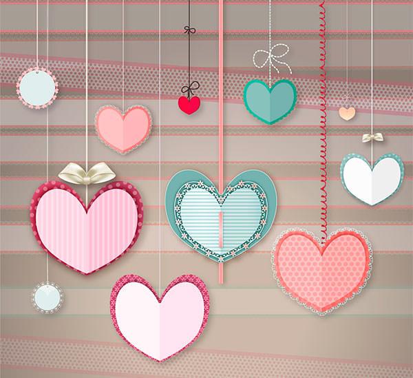 adoring hanging hearts free psd1