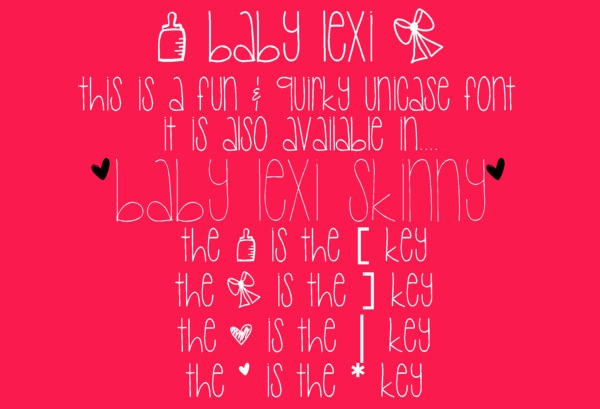 free lexi baby shower font