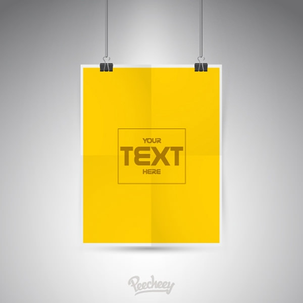blank-yellow-poster-template
