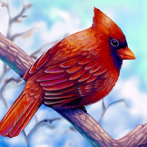 15 Beautiful Bird Paintings Freecreatives