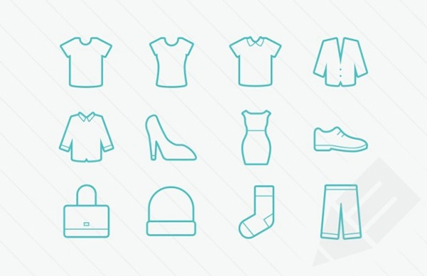 clothing-icons-vector