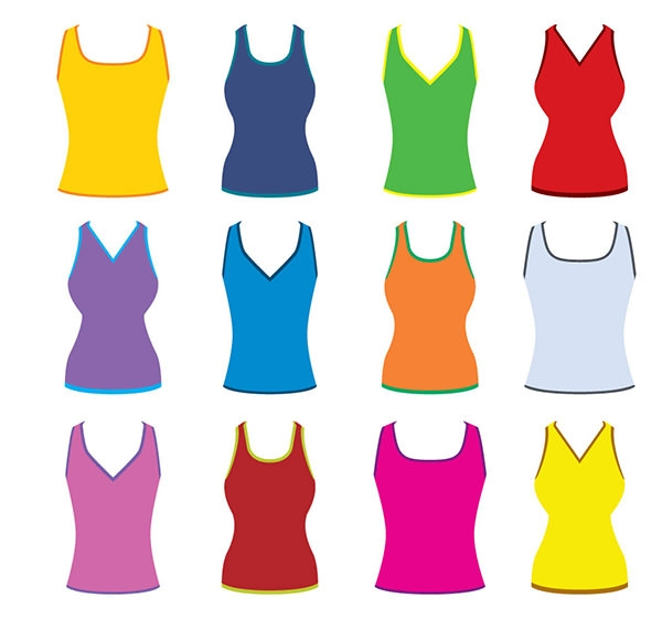 colorful-men-and-women-tank-top-set