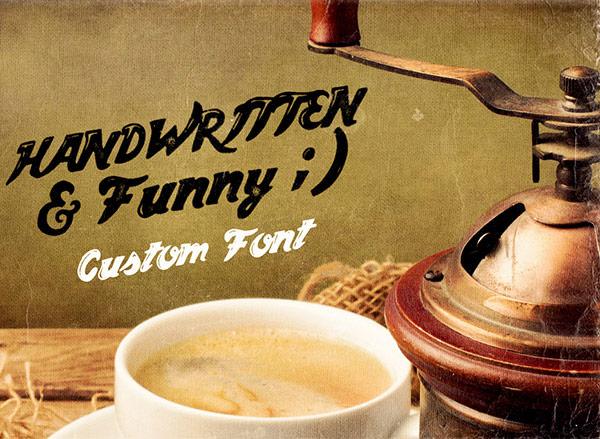 custom handwritten font