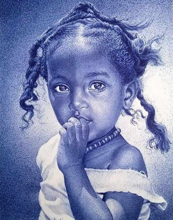 cute-little-girl-pen-drawing
