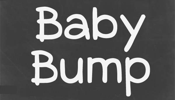 classic baby shower font