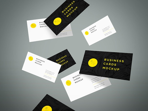 flying-business-cards-mock-up