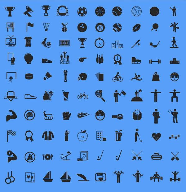 free-Sports-Icons-set