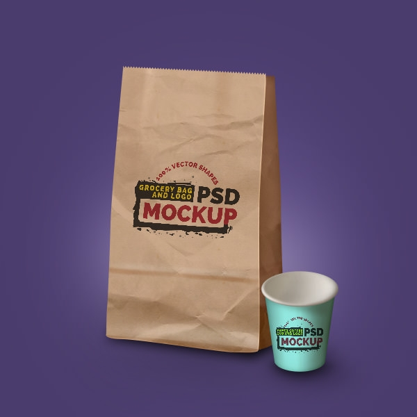 grocery-bag-coffee-cup-mockup
