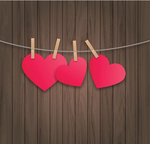 hanging-hearts-card-free-psd