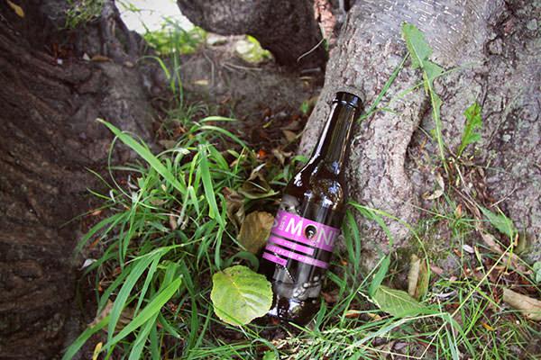 realistic look beer bottle mockup