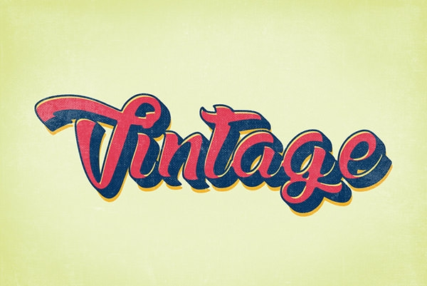 vinateg retro graphic styles effects
