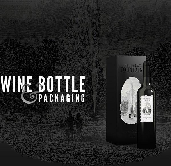wine bottle pakaging mockup