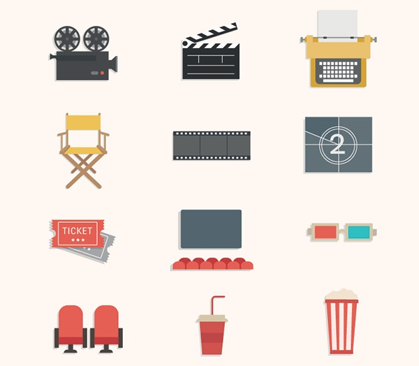 12-free-vector-cinema-icons-pack