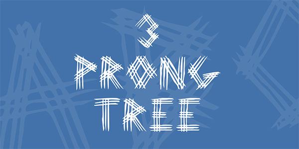 3-prong-tree-font