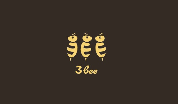 3bee logo design