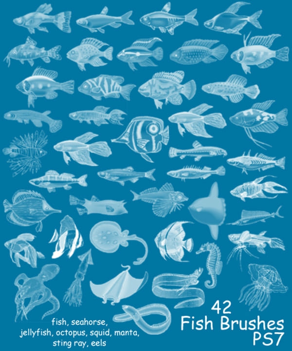 42_photoshop_fish_brushes_set