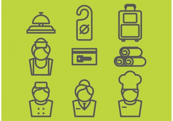 9 free hotel vector icons