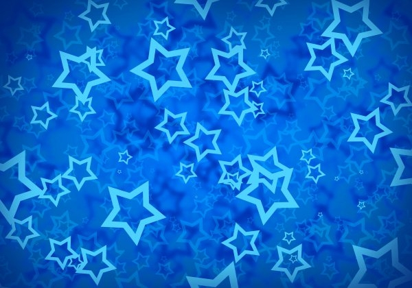 Beautiful Blue Star Pattern