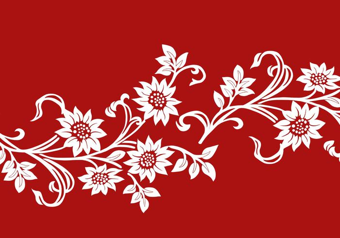 Beautiful Red Floral Pattern