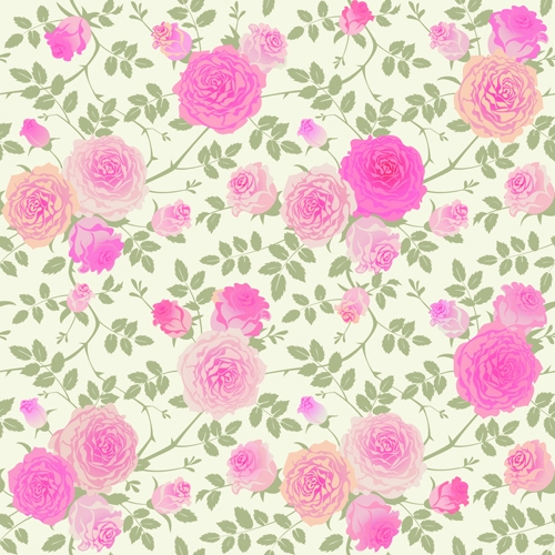 Beautiful-pink-rose-seamless-pattern-vector
