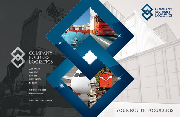 blue diamond logistics corporate folder template1