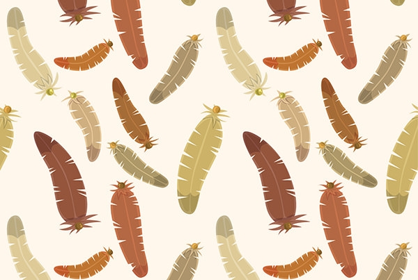 Brown-feathers-pattern