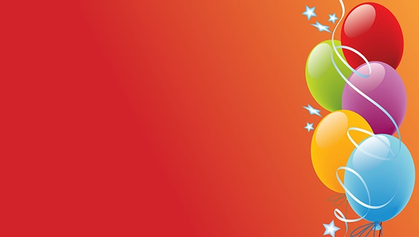 Colourful Birthday Balloons HD Background