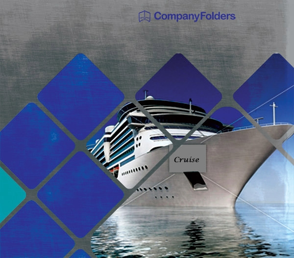 cruise ship adventure presentation folder design1