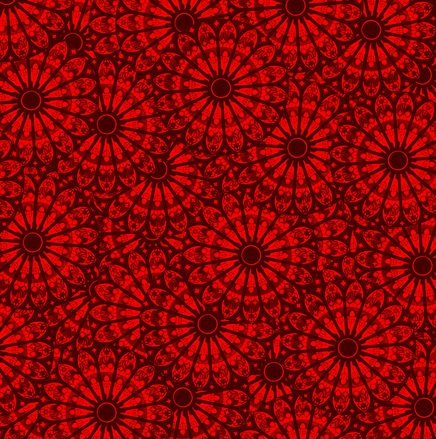 Dark Red Floral Pattern