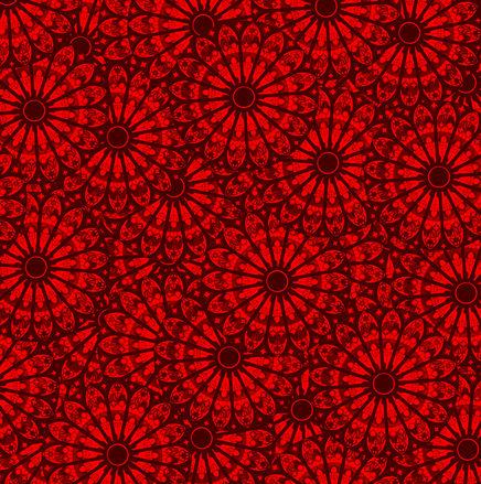 Dark Red Floral Pattern