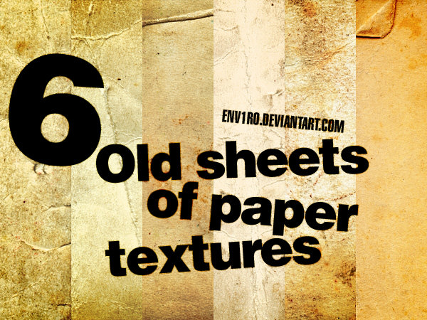Download 6 Free Old Grunge Paper Backgrounds
