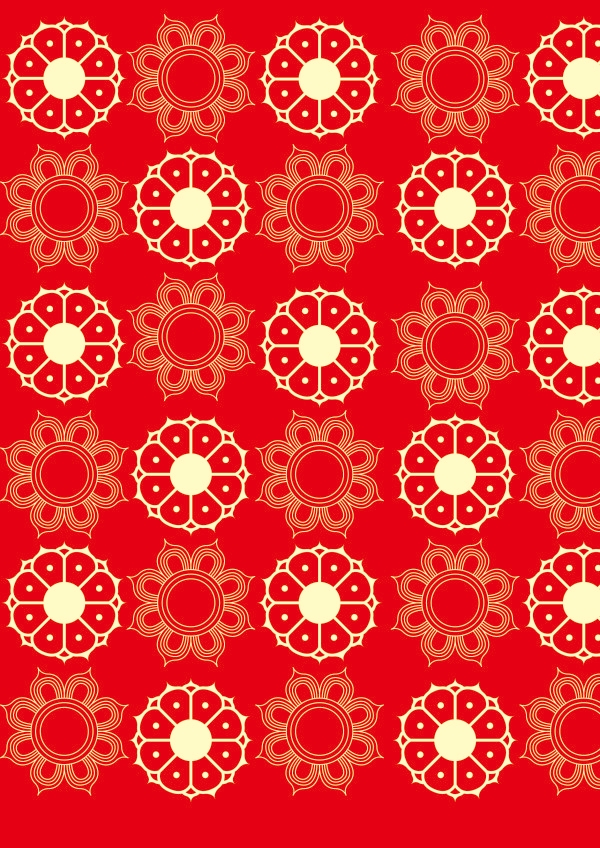 Download High Res Red Floral Pattern for Photoshop