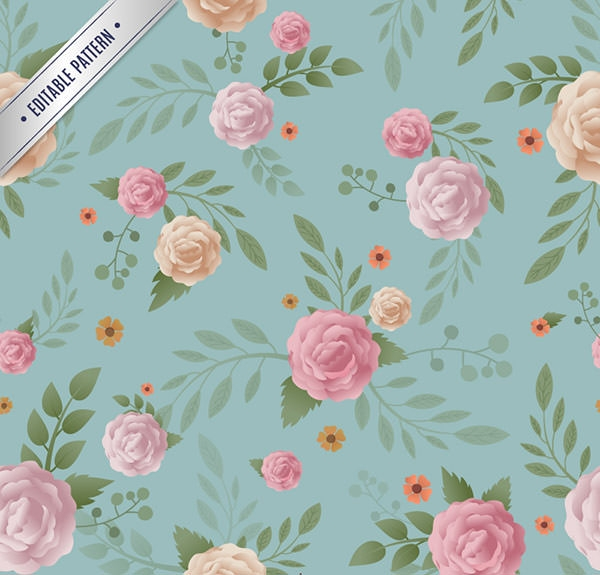 Floral-pattern-in-vintage-style